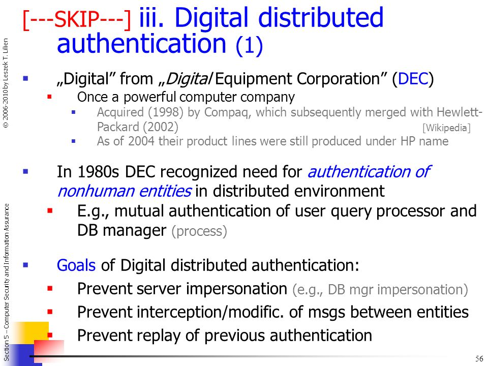 [---SKIP---] iii. Digital distributed authentication (1)